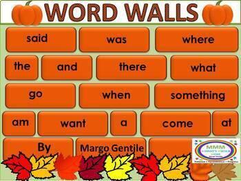 Eye-Catching Editable Word Walls