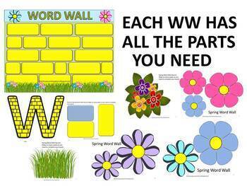 #backtoschool Eye-Catching Editable Word Walls 4 All Year