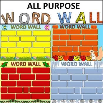 Eye-Catching Editable Word Walls 4 All Year
