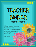 Teacher Binder Cover and Inserts 2017-2018