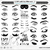 Eye ClipArt Images, Eyelash Graphics, Trendy Beauty Images, Makeup, Girls, see
