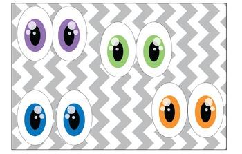 Eye Clipart: Sweet Eyes in purple, blue, green & orange