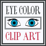 Eye Color Clip Art (Both PNG and PDF files)