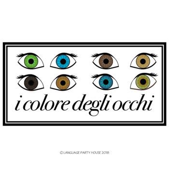 Eye Color in Italian Printables (High Resolution)