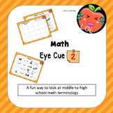 A middle school math vocabulary game for out-of-the-box th