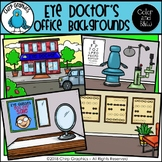 Eye Doctor Background Scenes Clip Art Set - Chirp Graphics