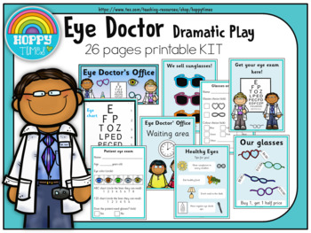 e680c8b3de4 Eye Doctor Dramatic Play by HoppyTimes