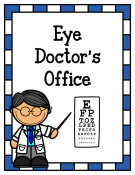 eye doctor s office dramatic play by for a rainy day tpt rh teacherspayteachers com eye doctor clipart images
