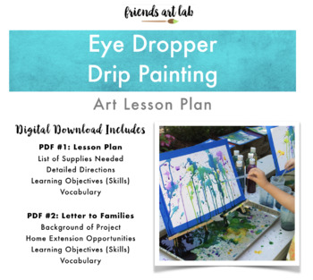 Eye Dropper Drip Painting (Art, Gravity, Geometry, Color Theory, Force & Motion)