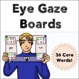 Eye Gaze AAC Boards - 36 Core Vocabulary Words