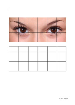 Teaching Drawing - Eye Grid Drawings