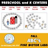 Fine motor alphabet centers