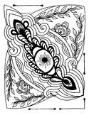 Eye Love Art Therapeutic Coloring Page for summer