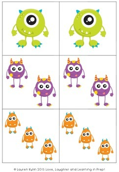Eye Love Monsters! A FREE counting game for little learners.