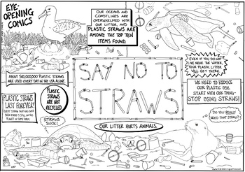 Eye Opening Comics- Say No To Straws (Special Earth Day Comic)