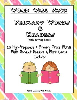 Word Wall Pack ~ 231 High-Frequency & Primary Words with Headers!
