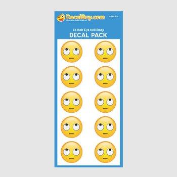 Eye Rolling Emoji Decal Mini Pack