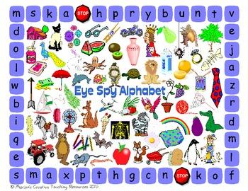 Eye Spy Alphabet {Initial / Beginning Sounds}