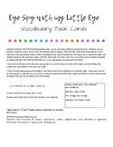 Eye Spy Parts of Speech Task Cards