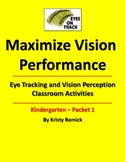 Eye Tracking and Vision Perception Activities for Kindergarten Packet 1