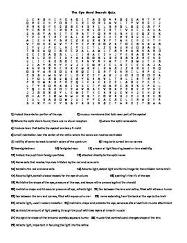 Eye Word Search Quiz