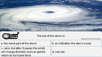 Eye of the Storm: An Interactive Hurricane Information PowerPoint Game