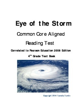 Eye of the Storm (Pearson Education 2008) Common Core Aligned Test