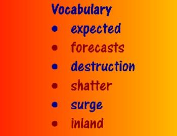Eye of the Storm Vocabulary Presentation