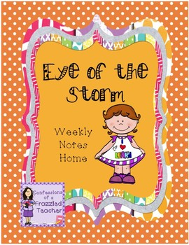 Eye of the Storm Weekly Take Home Letters (Scott Foresman Reading Street)