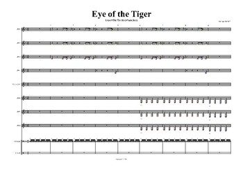 Eye of the Tiger for Boomwackers