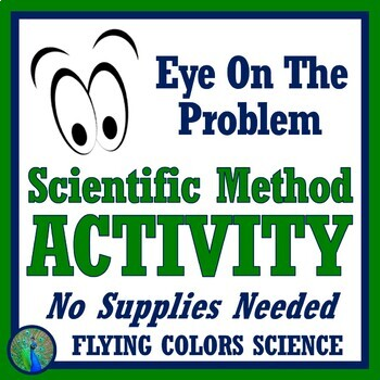 """Eye on the Problem"" - FUN Scientific Method Human Body Activity Worksheet NGSS"