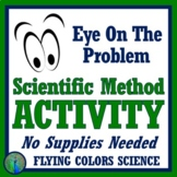 """""""Eye on the Problem"""" - FUN Scientific Method Human Body Activity Worksheet NGSS"""