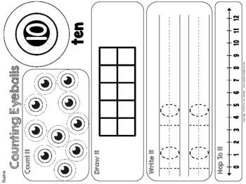 Counting 1-12 {eyeball themed}