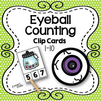 Eyeball Counting Clip Cards 1-10