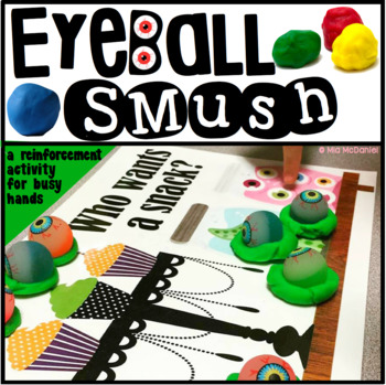 Eyeball SMUSH {a Halloween reinforcement activity for busy hands}