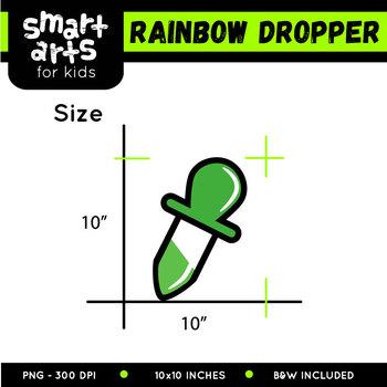 Rainbow Dropper Clip Art