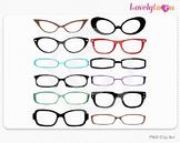 Eyeglasses clipart, PNG clip art (064)