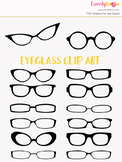 Eyeglasses clipart, black eye wear clip art (LC13)