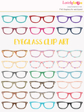 Eyeglasses clipart, multi-color eye wear clip art (LC10)
