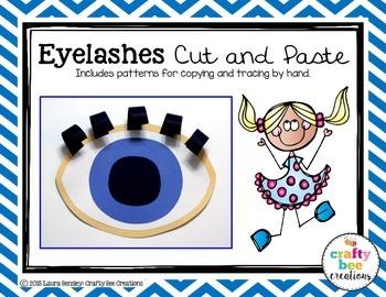 Eyelashes Cut and Paste