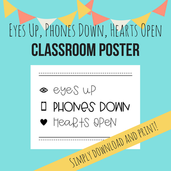 Eyes Up, Phones Down, Hearts Open Poster