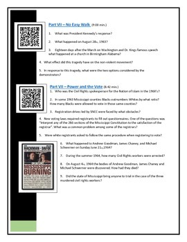 BYOD Assignment - Eyes on the Prize video questions - QR code Link to YouTube