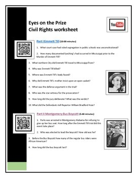 BYOD Assignment - Eyes on the Prize video questions - QR c