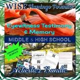 Eyewitness Testimony & Memory Activity Collection GROWING BUNDLE