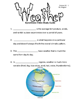 Eyewitness DVD - Weather - Student Worksheet