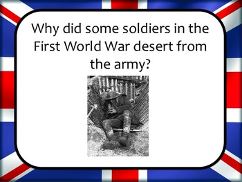 Eyewitness History: Why did some soldiers desert during World War One? DBQ