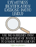 Eyewitness Identification Procedures-Forensic Science, Criminal Justice Activity