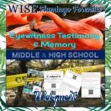 Eyewitness Testimony & Memory Web Quest DISTANCE LEARNING