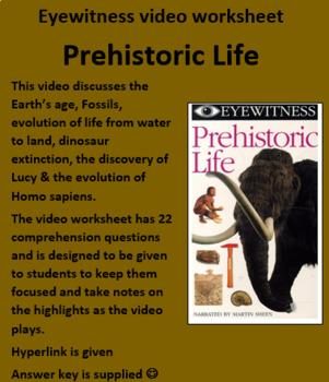 Eyewitness video worksheet: Prehistoric Life