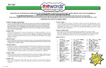 Eyewords Activity Sheet, Set #2 Words 51-100